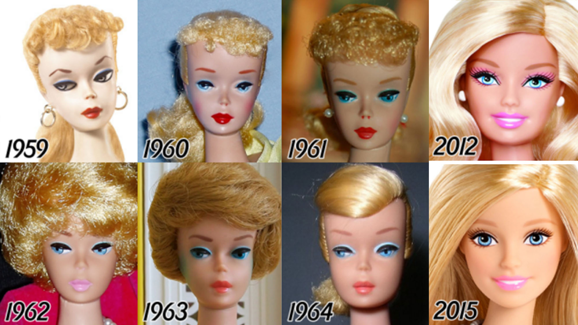 Barbie's beauty evolution: Then and now