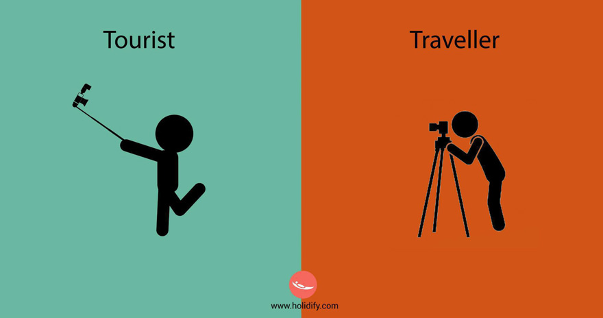 10 differences between tourist and travellers