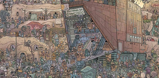 Can you find Chewbacca in this illustration?