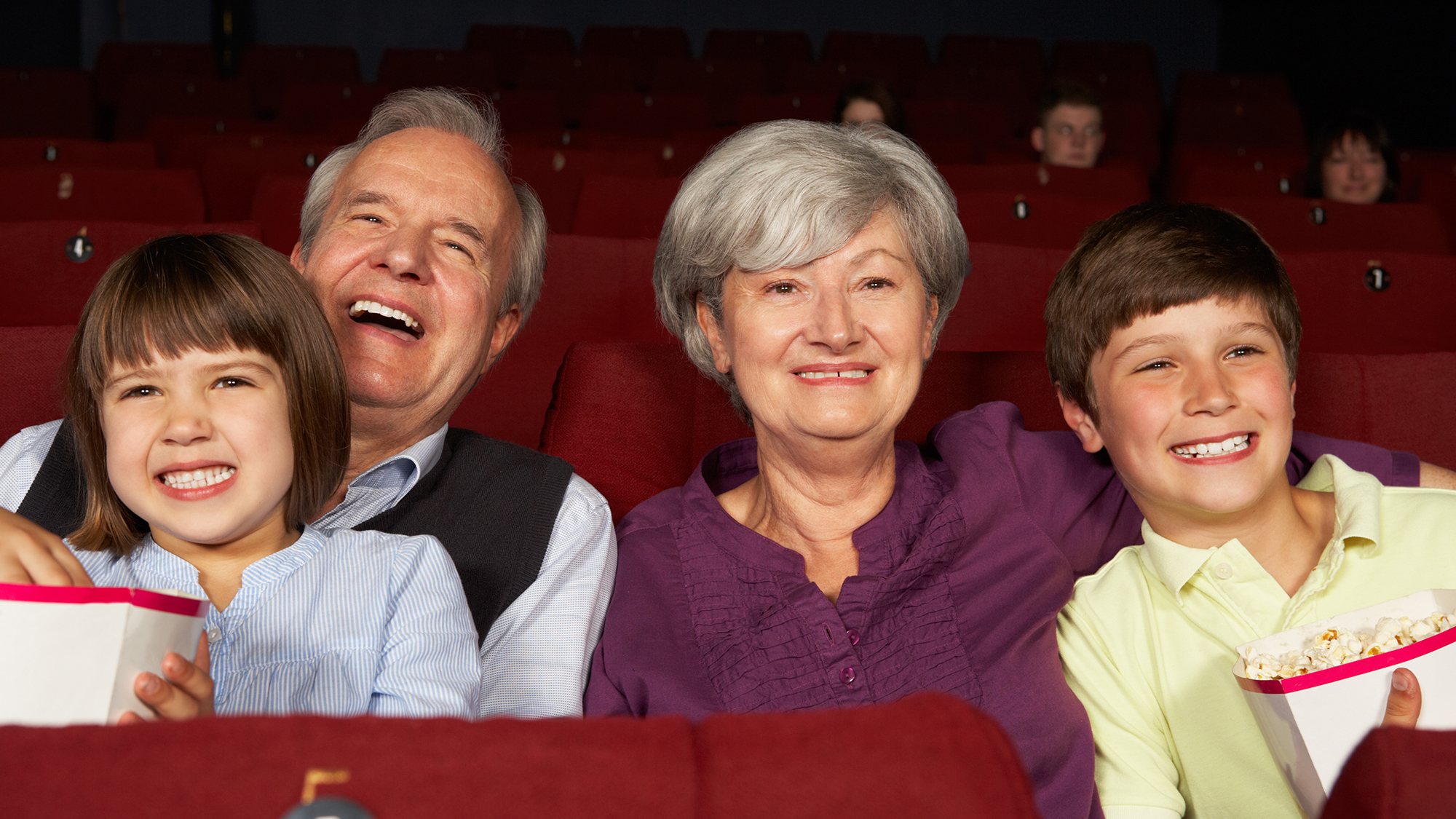 Get through the scary movie with your grandkids