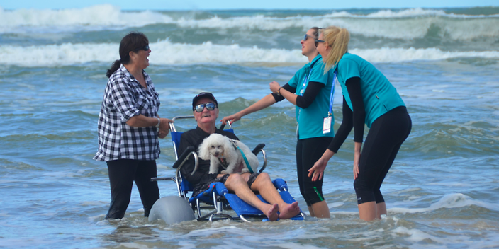 Smart wheelchair enables terminally ill patients to visit beach