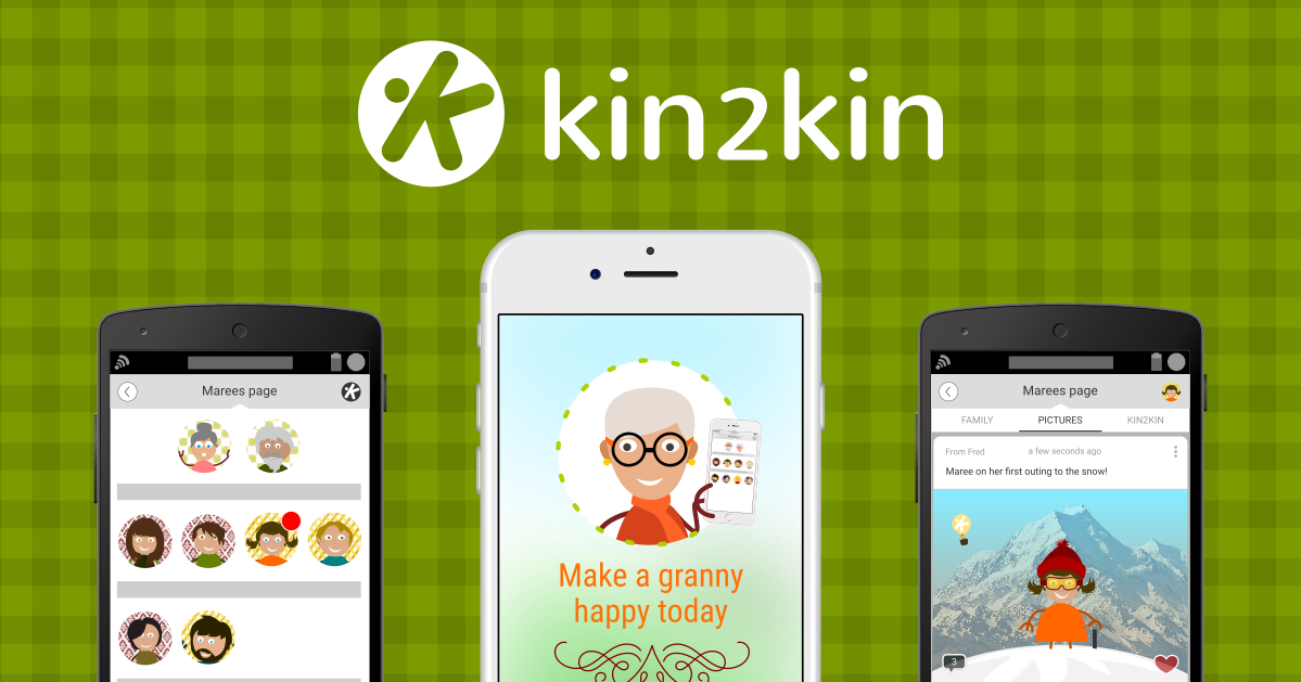 New app kin2kin enables you to message family for free
