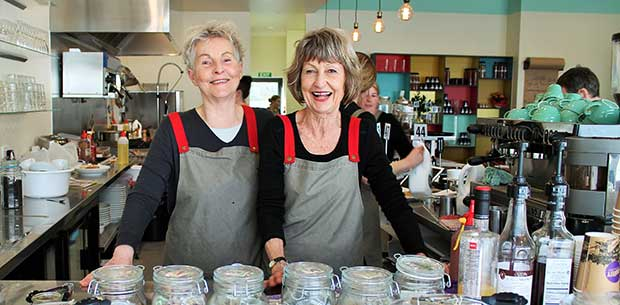 Senior sisters open their own café in retirement