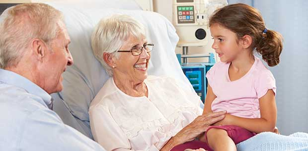 The best way to involve children in the care of a grandparent