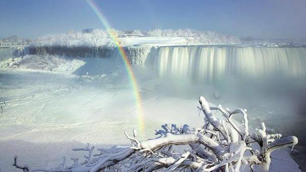 Niagara Falls has frozen