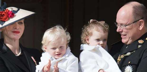 Prince Albert of Monaco's two older children pictured together for the first time