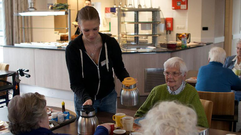 The nursing home where students live too – and rent-free