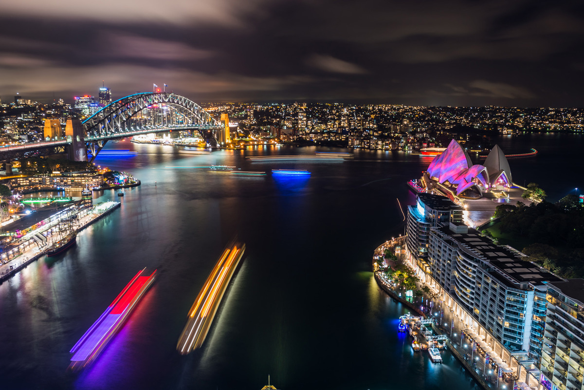 Amazing images from Vivid Sydney as the harbour becomes a playground of light
