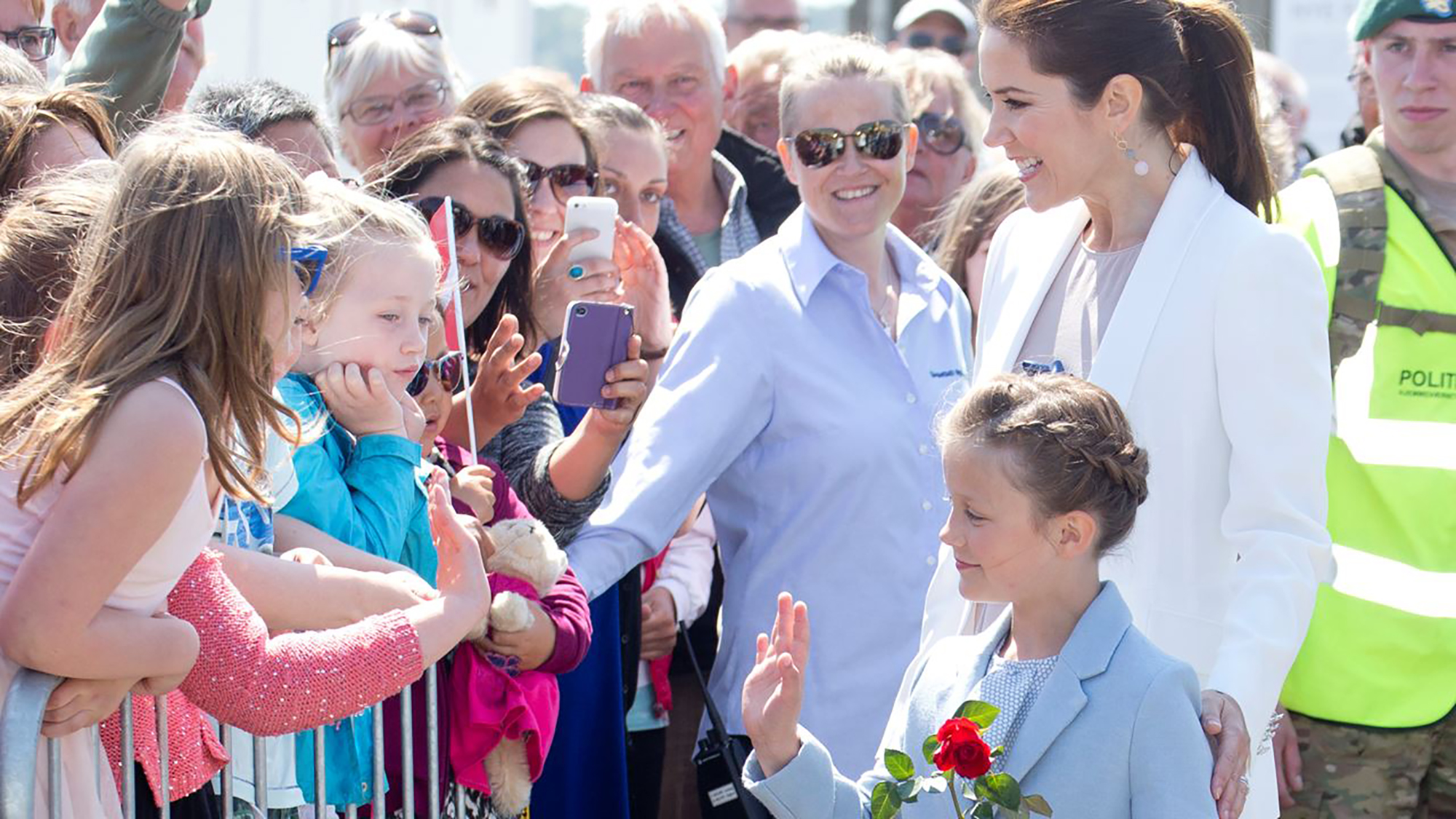 As she steps out for her first public engagement, Princess Isabella looks the spitting image of mother Mary