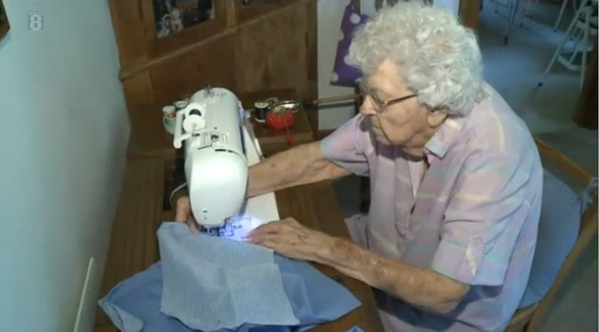 Woman sets out to sew 1,000 dresses by her 100th birthday for charity
