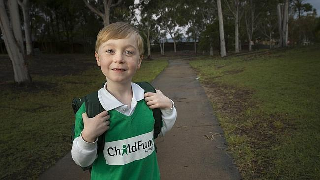 6-year-old boy walks home from school to raise money for less fortunate kids