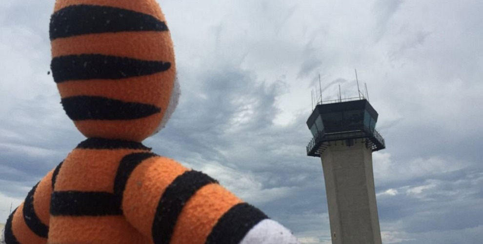 Boy's lost stuffed toy goes on an airport adventure