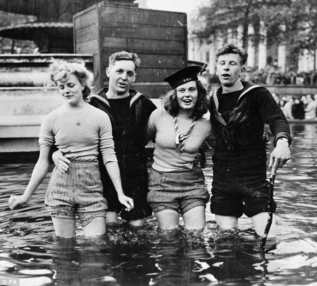 70 years on, the young women in this VE Day photo at Trafalgar Square are tracked down