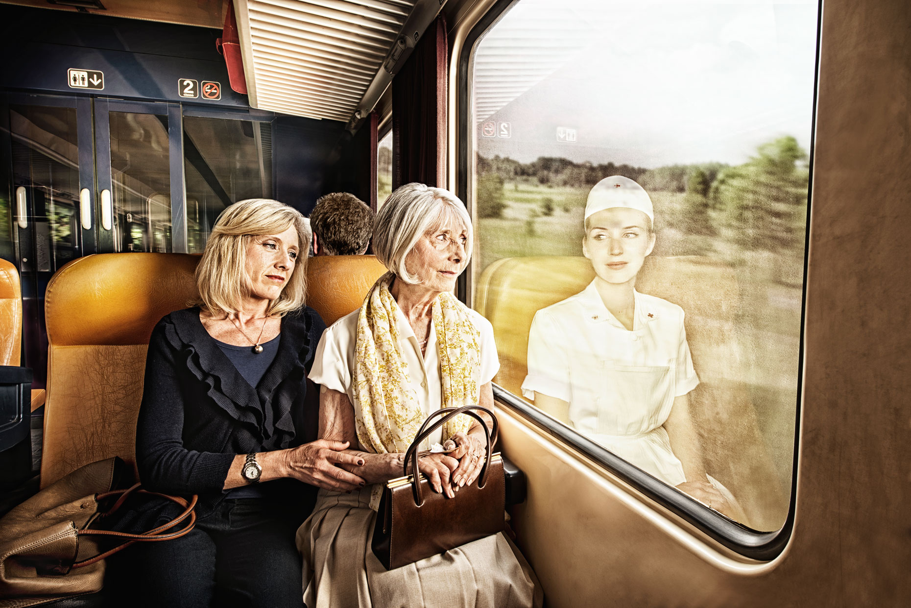 Does the mirror reflect how you feel? This photo series captures older people as they once were