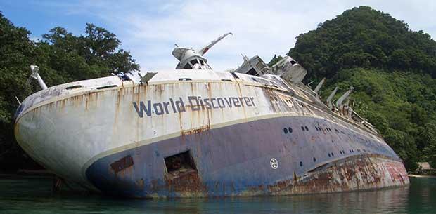 7 abandoned ships around the world
