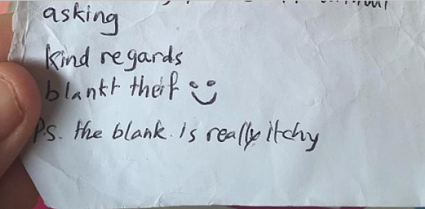"""World's most polite thief leaves """"breathtaking"""" apology note"""