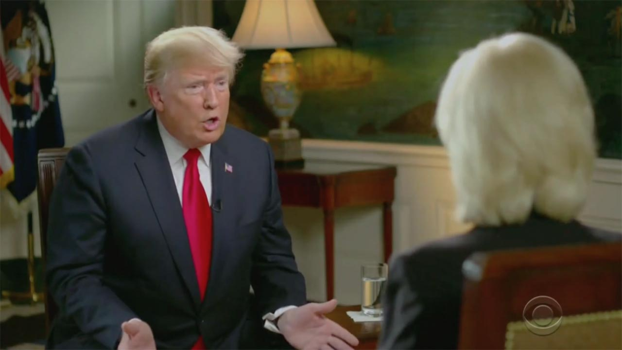 "President Donald Trump grilled in 60 Minutes interview: ""I'm not a baby"""