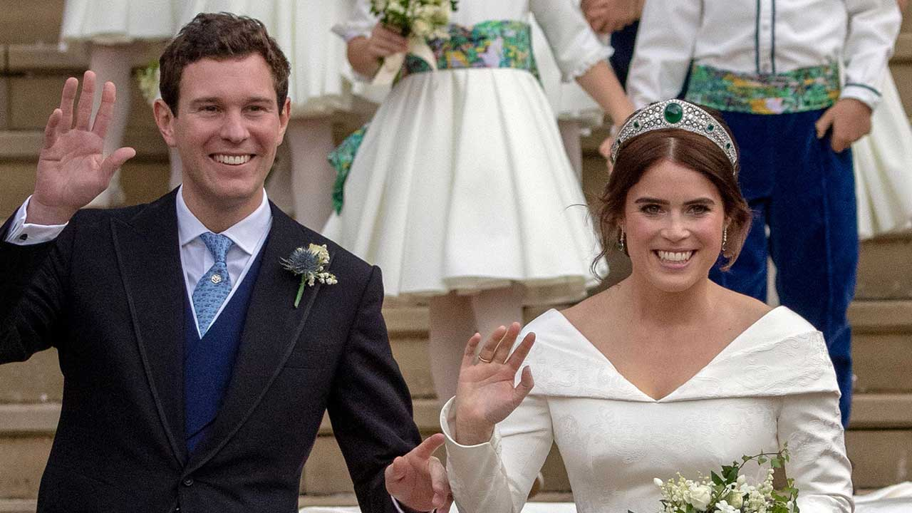 Princess Eugenie debuts new hair at royal engagement