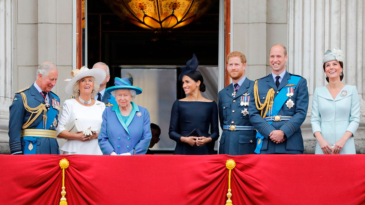 Royal family pictured together for the first time in months to honour Prince Charles