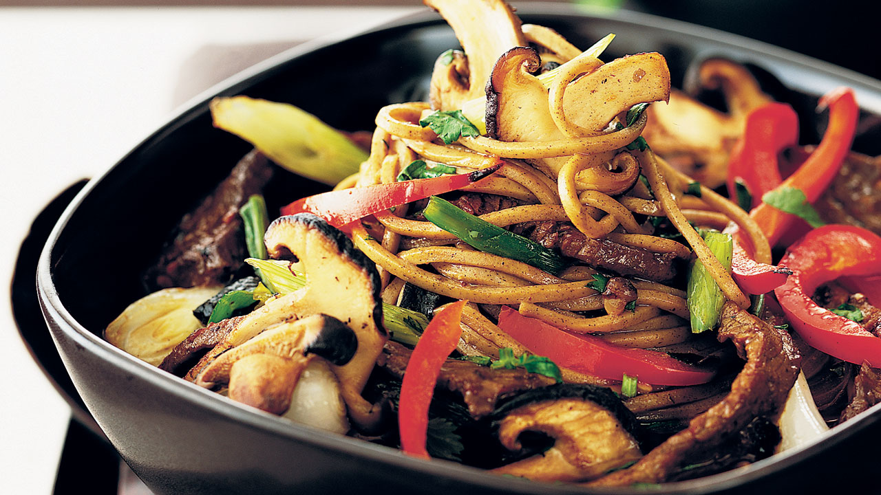 Delicious Japanese beef with soba noodles