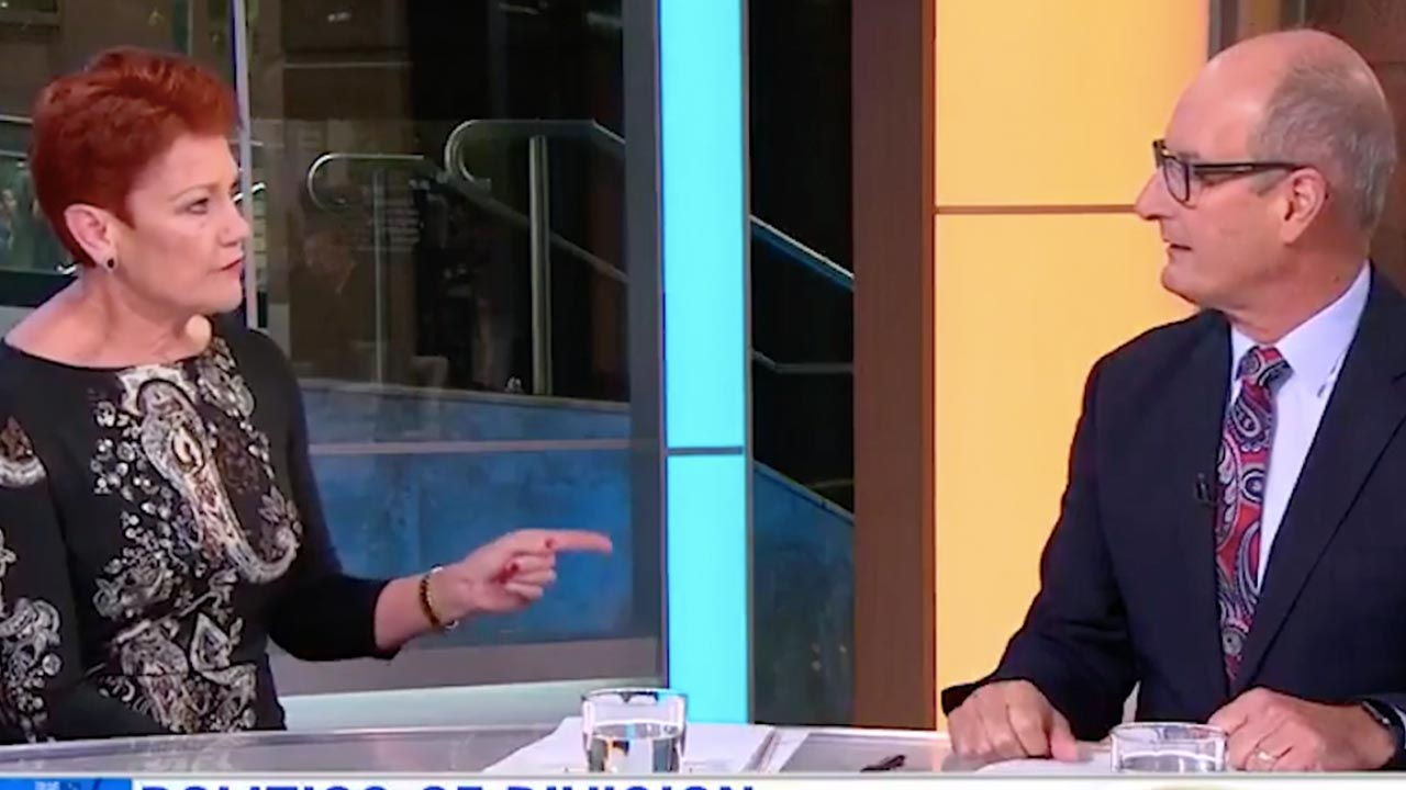 """""""She tipped me over the edge"""": Kochie defends behaviour on Sunrise after Pauline Hanson feud"""