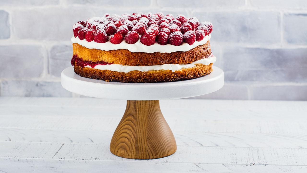 Maggie Beer's fresh raspberry cake