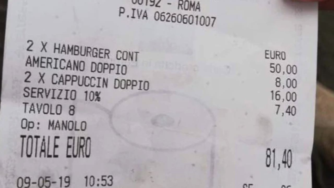 """""""What a rip off!"""": Rome restaurant slammed for outrageous bill"""