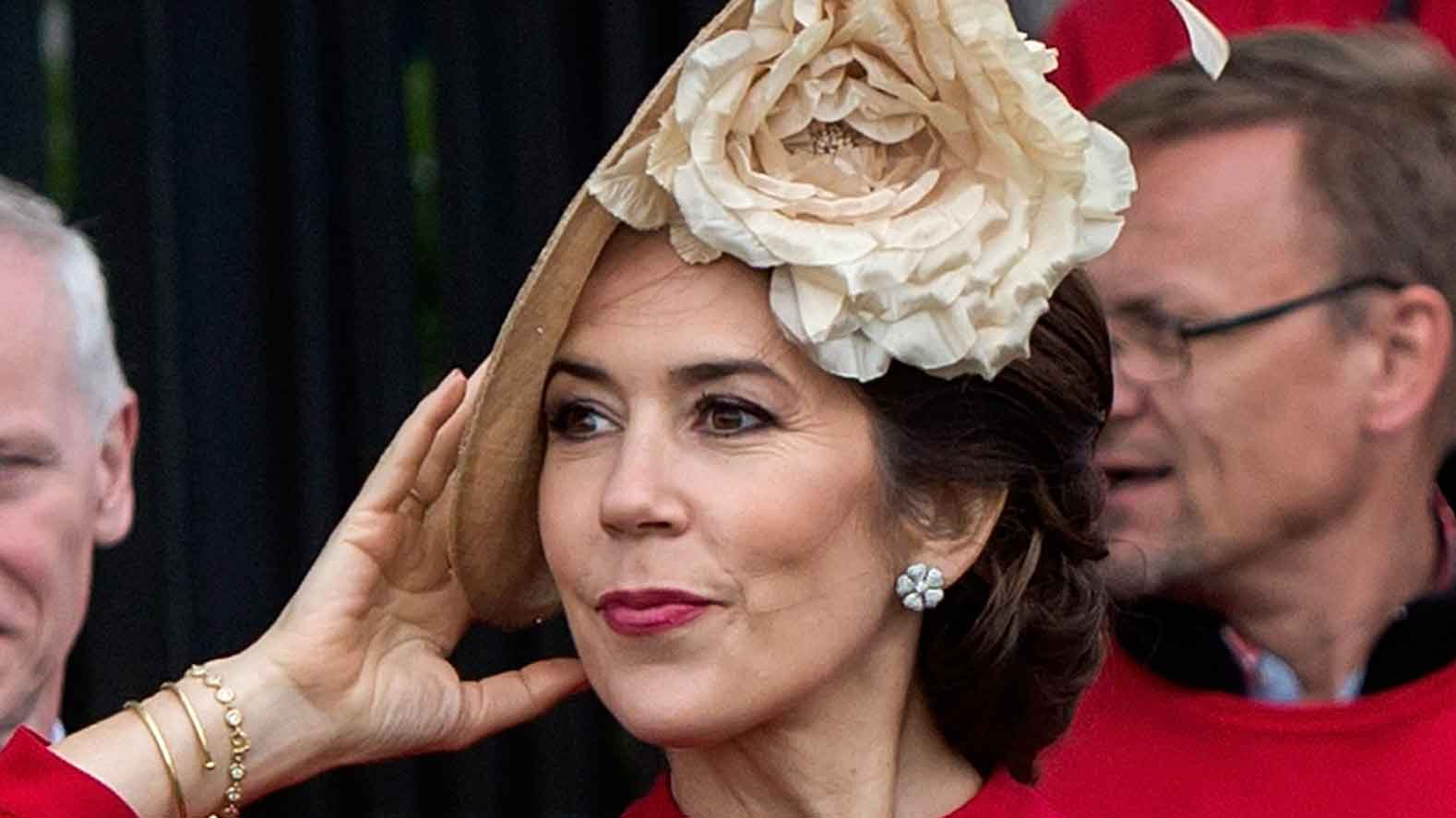 Vision in red! Princess Mary is all class and grace at special celebration