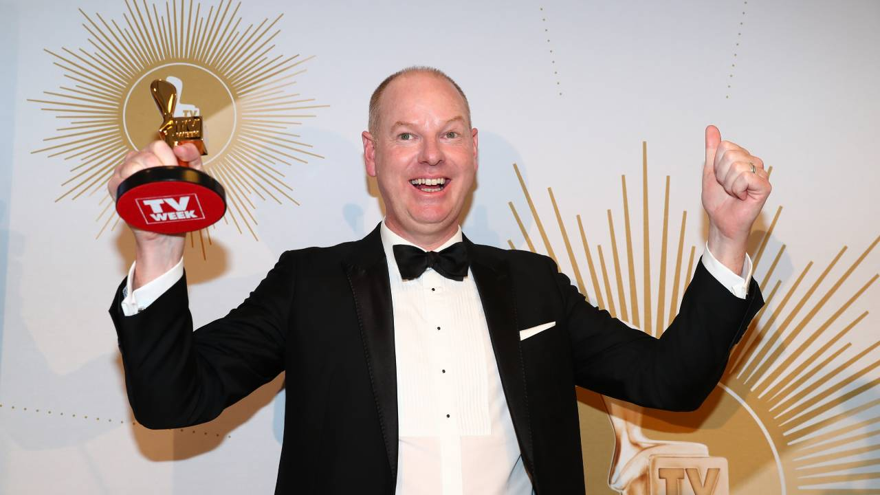 """""""I'm turning this award into a joke!"""" Tom Gleeson wins Gold Logie after smear campaign"""