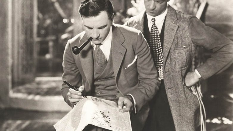 How was the crossword puzzle invented?