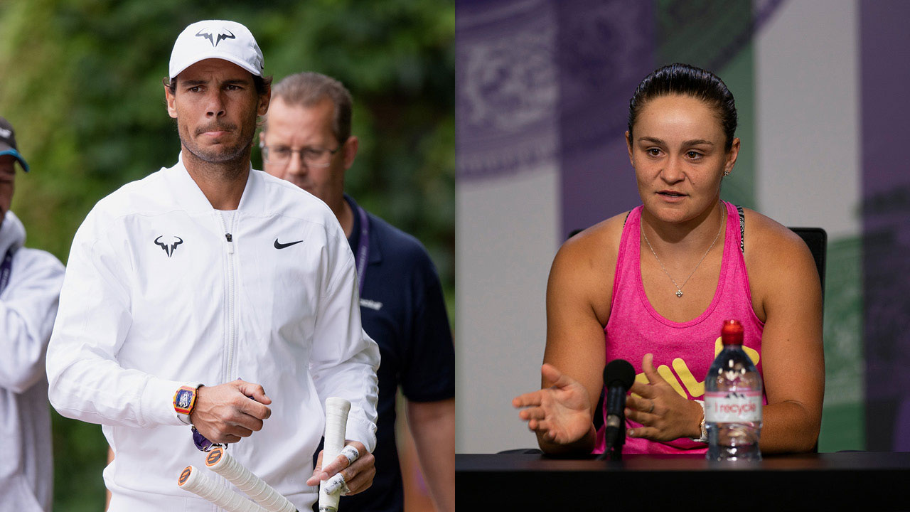 """I am more than Ashleigh Barty"": Rafael Nadal starts sexism storm at Wimbledon"