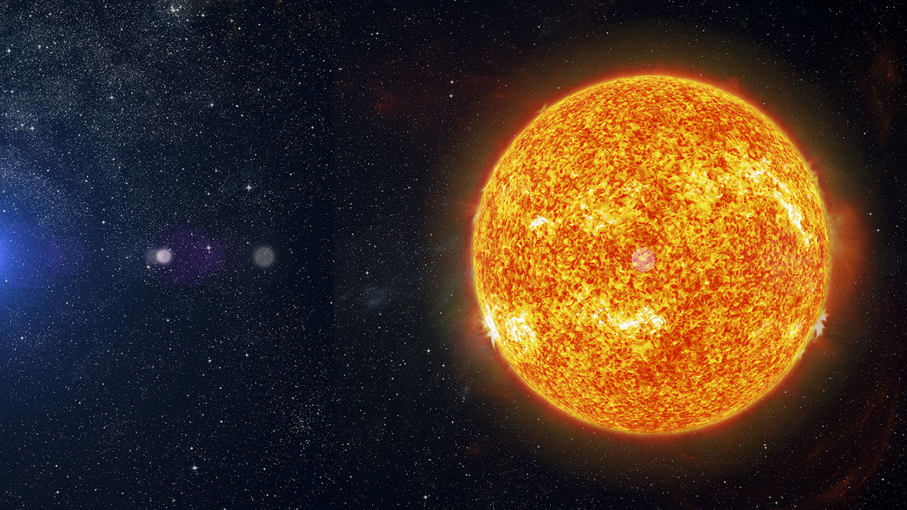 Why is the Sun orange when white stars are the hottest?