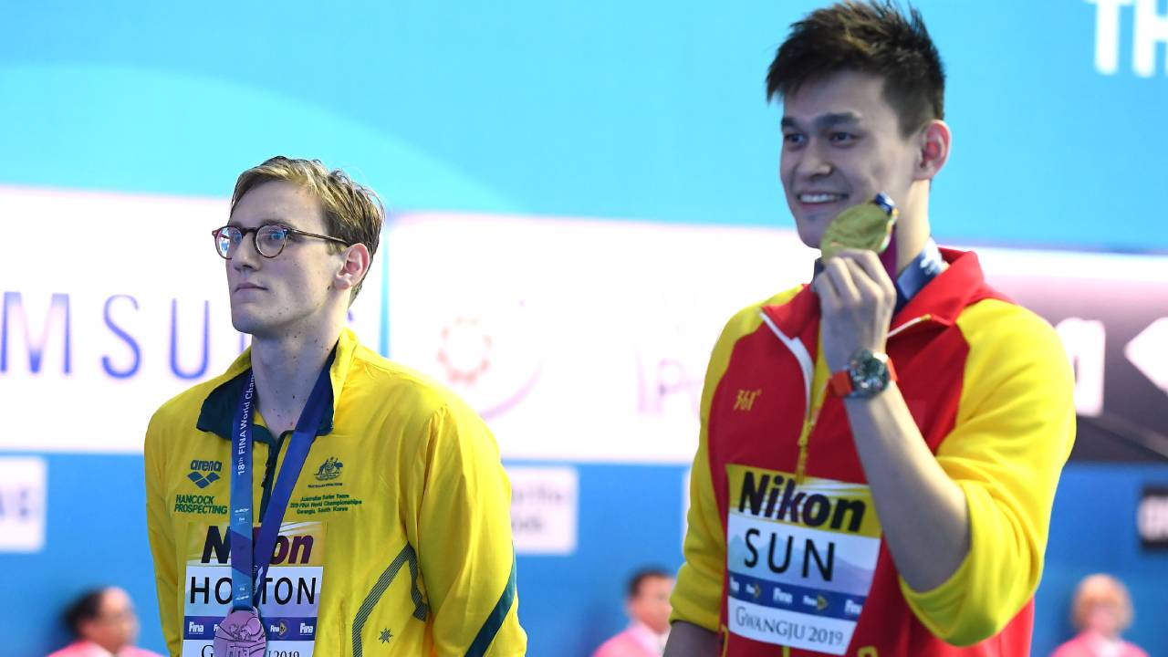 """Lack of respect"": China hits back at Mack Horton after refusing to share podium with Sun Yang"