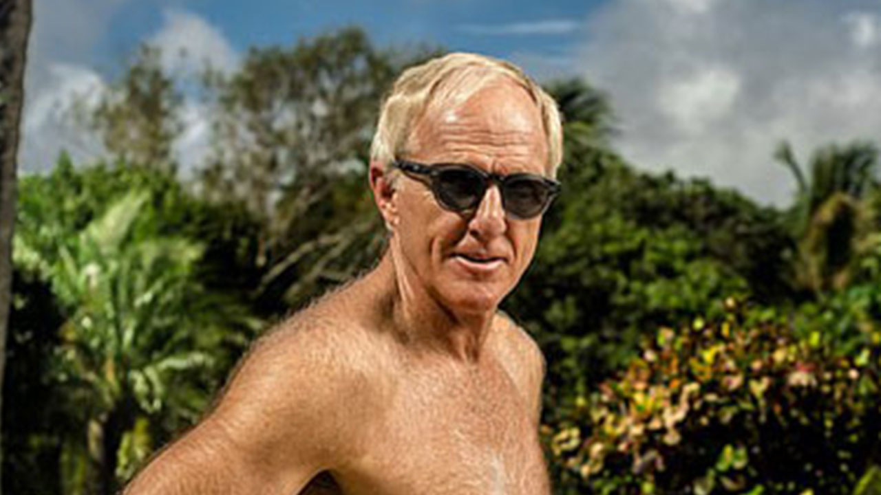 64 and still got it! Greg Norman poses shirtless for new photoshoot