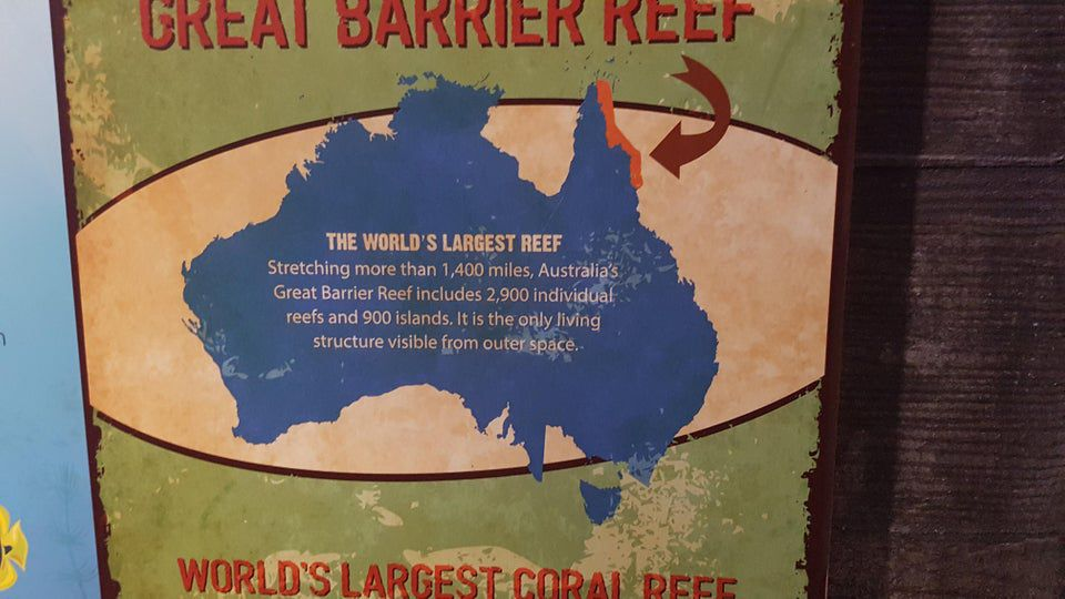 Australian map at US zoo leaves people astounded