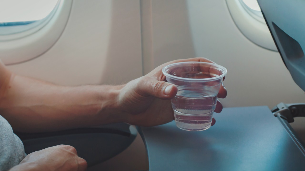 Why you should stay hydrated on the plane