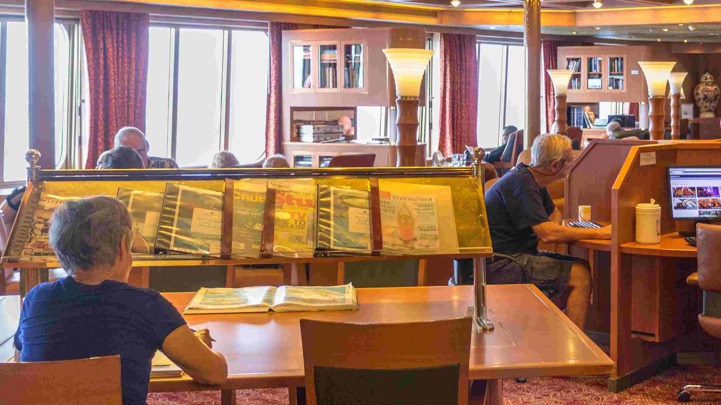 Why you shouldn't skip the cruise ship library