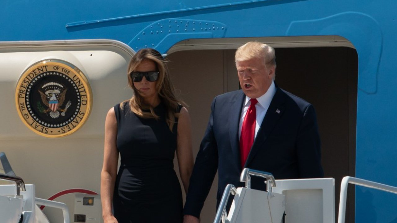 """""""Absence of empathy"""": Donald and Melania Trump under fire over photo with El Paso shooting victim"""