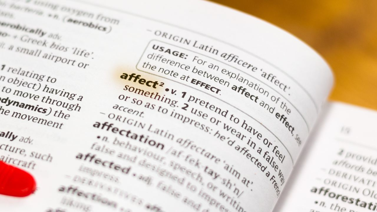 Affect or effect?: How to use the terms