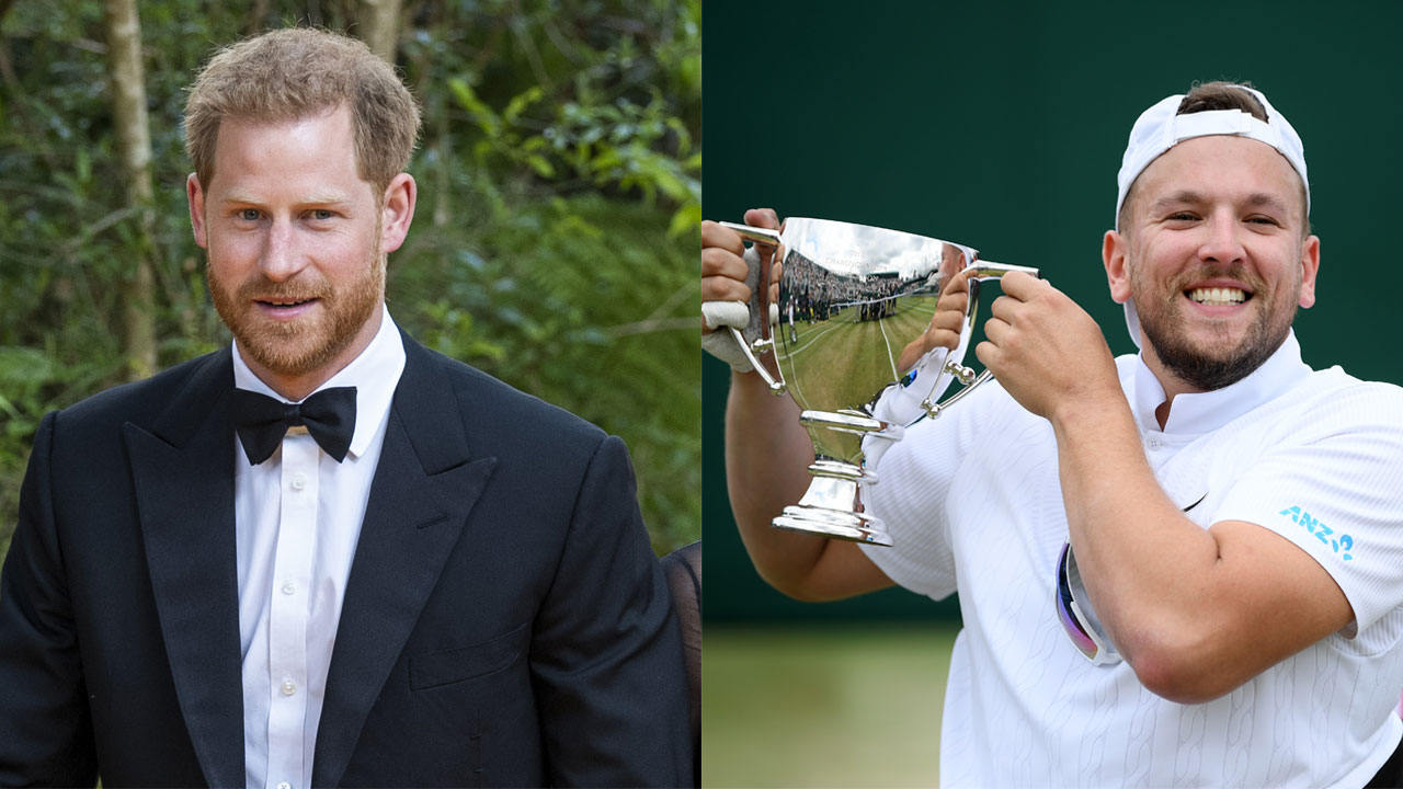 Cheeky! Prince Harry pens hilarious note to Wimbledon wheelchair champion Dylan Alcott