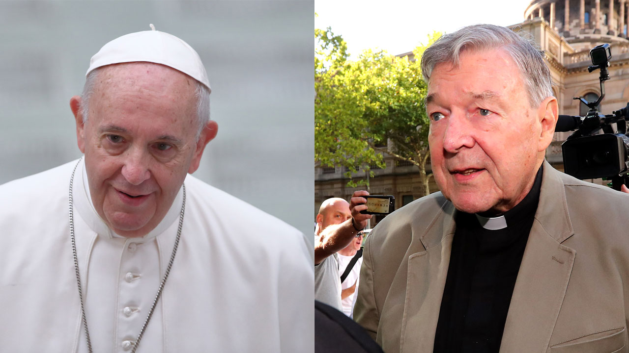 George Pell verdict: Pope Francis reacts to Victorian Court's decision