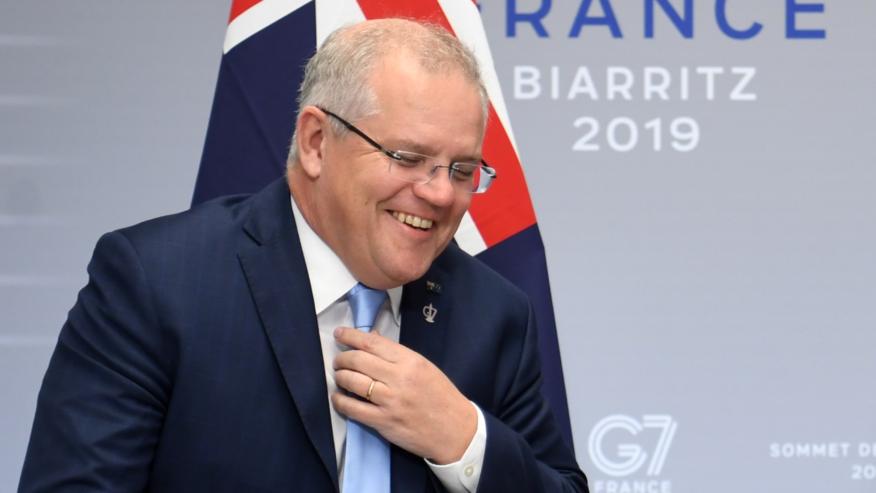 Scott Morrison's awkward moment at G7 summit in France