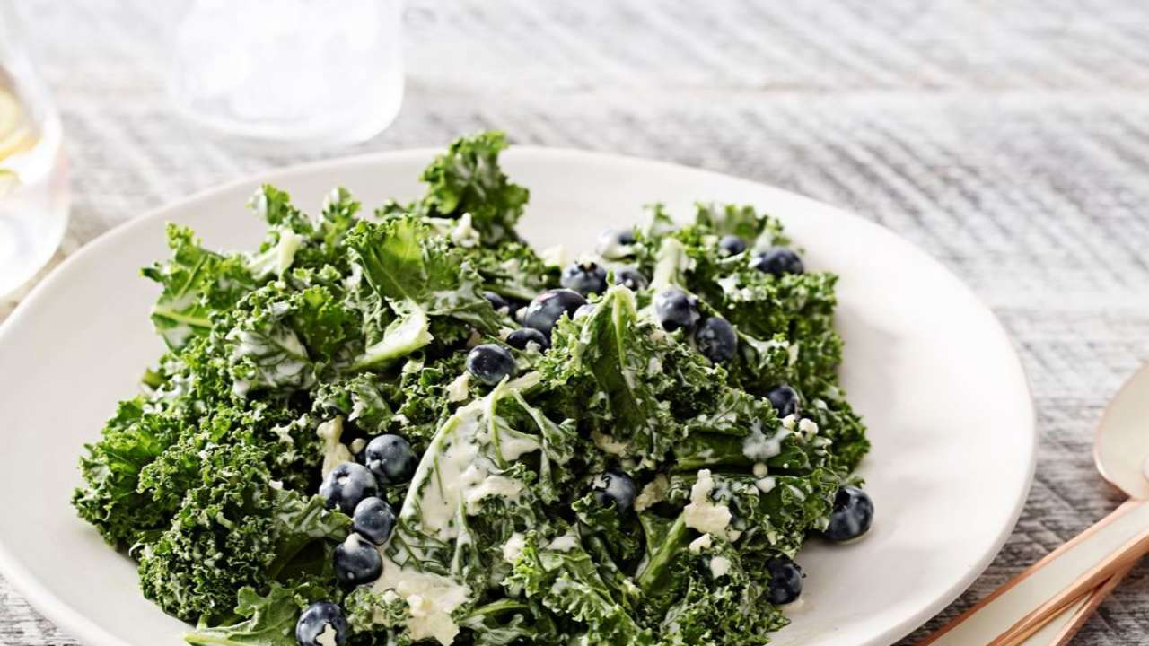 Get healthy with a blueberry kale salad