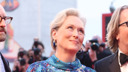 Meryl Streep steals the red carpet in unique and bold gown