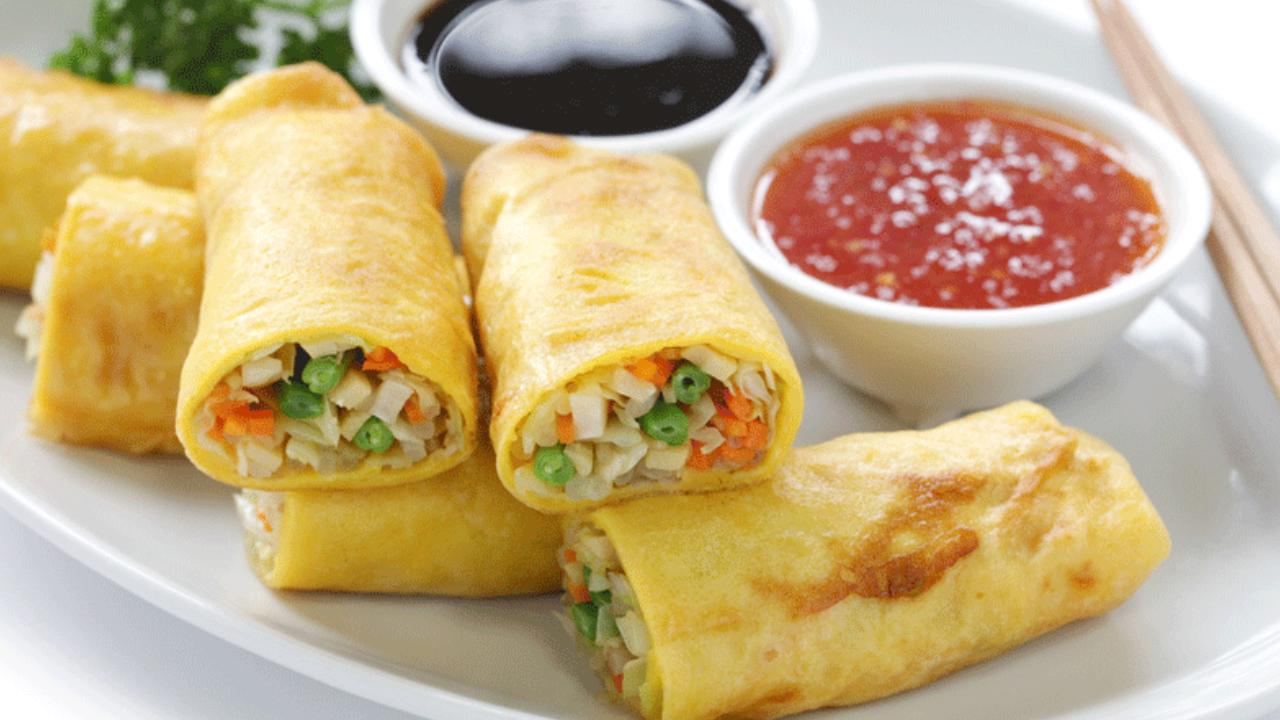 Try something different with vegetarian spring rolls