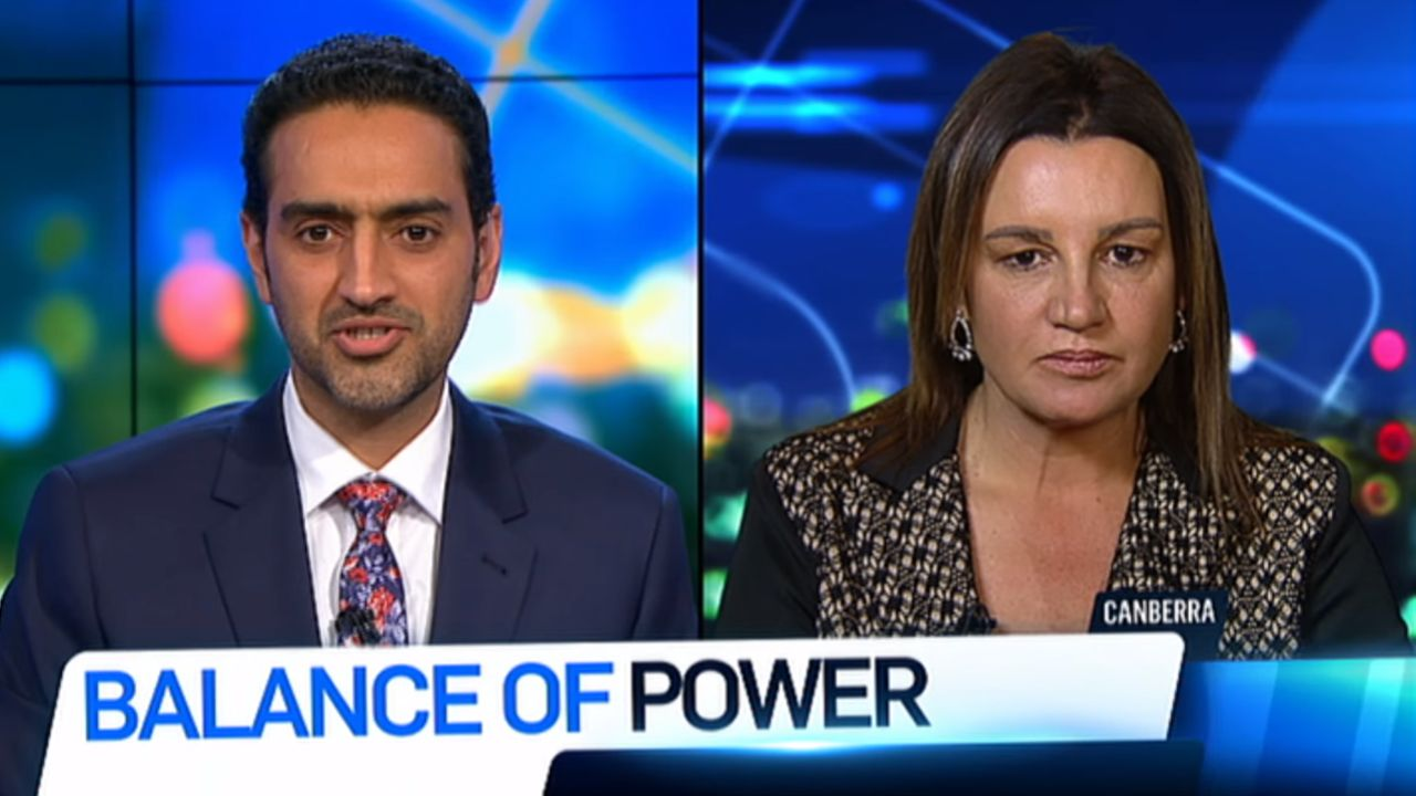 """""""For goodness sake!"""": Jacqui Lambie clashes with Waleed Aly over Centrelink drug testing plan"""
