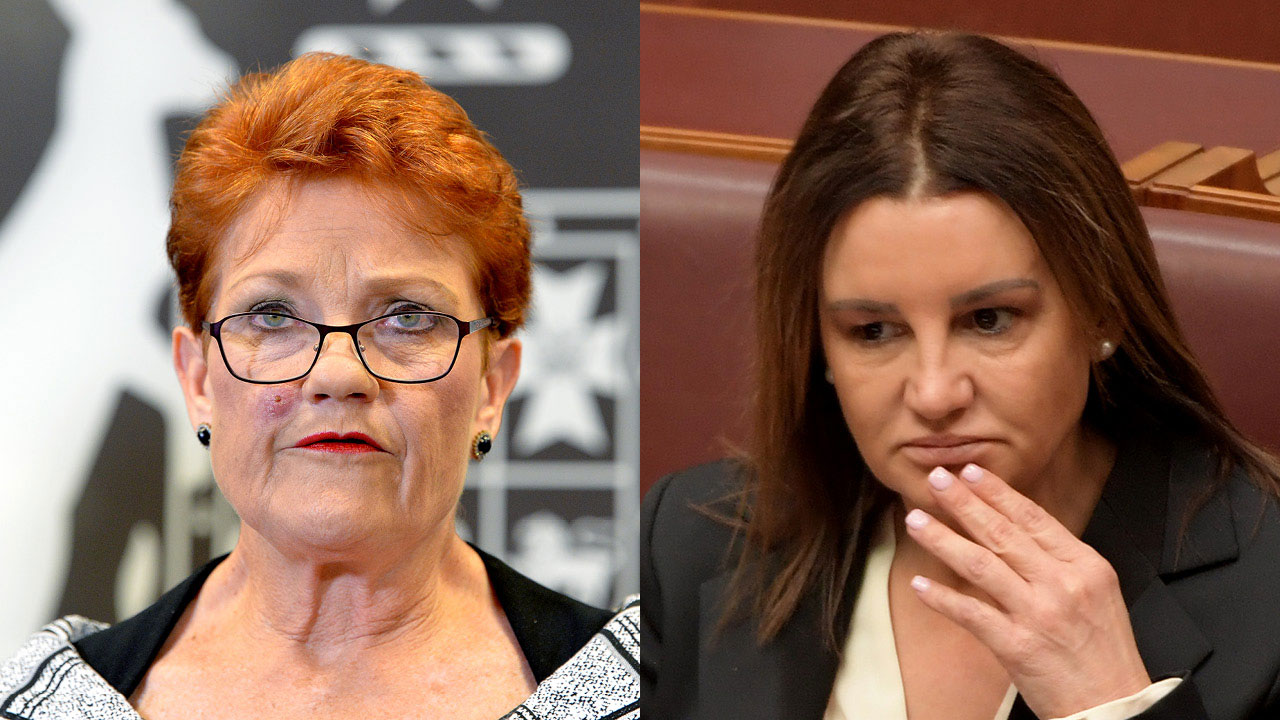 """""""Who's got in her ear?"""": Pauline Hanson launches scathing attack on Jacqui Lambie over drug testing"""