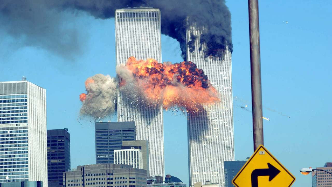 18 years on: Harrowing images show the true horror of the 9/11 attacks