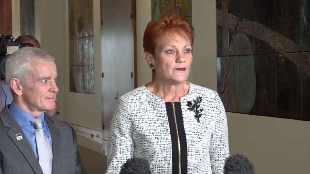 """""""Unbearable"""": Pauline Hanson breaks down in tears and thanks Scott Morrison"""