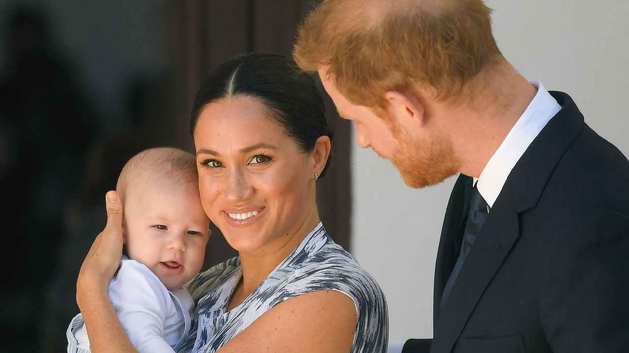 Rare video of baby Archie as Harry and Meghan introduce him to Archbishop Desmond